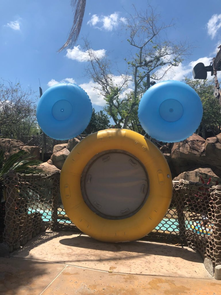 hidden mickey made from inner tubes at the Walt Disney World water parks typhoon lagoon and blizzard beach