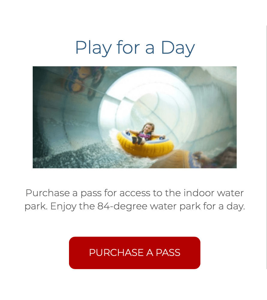 Great Wolf Lodge now offers limited day passes