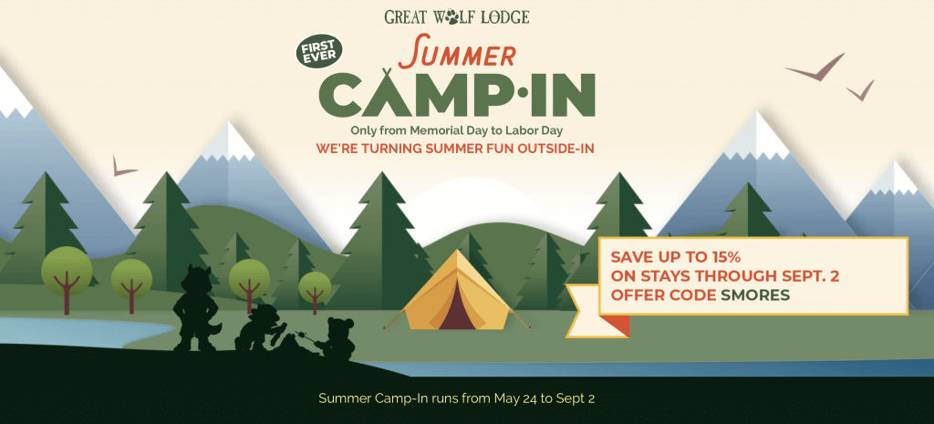 "In addition to celebrating holidays throughout the year, Great Wolf Lodge has now announced a new ""Summer Camp-In"" event"