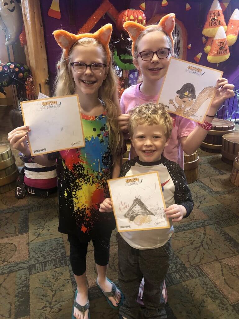 kids participate in Halloween activities at Great wolf Lodge in Mason, Ohio