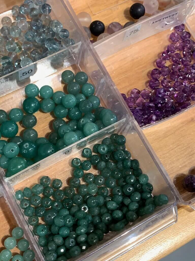 these gorgeous green beads remind me of princess jasmine's jewelry in Aladdin