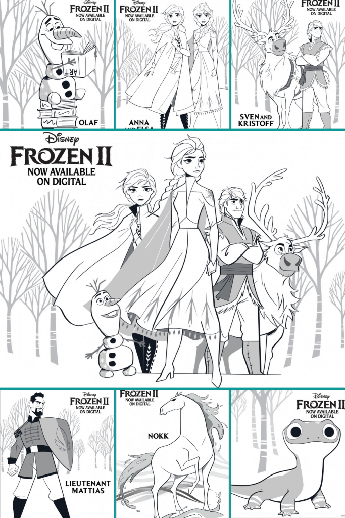 coloring pages and frozen 2 activity pages for indoor use during covid-19 quarantine and isolation - to keep kids and families sane