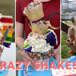 three examples of the crazy shakes offered at terry's grocery and pizza